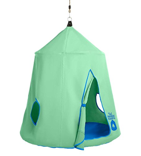 Go! HangOut HugglePod Hanging Tree Tent with LED Lights, 45 diam. x 54 H - Mint Green