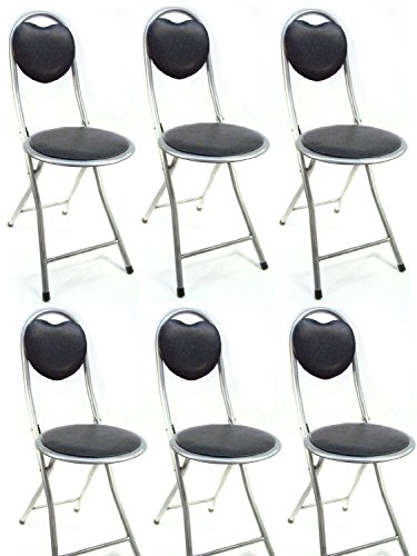 DLUX Small Folding Chair Extra Padded Cushioned Seat For Comfort