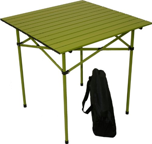 Table in a Bag Tall Aluminum Portable Table with Carrying Bag, Green