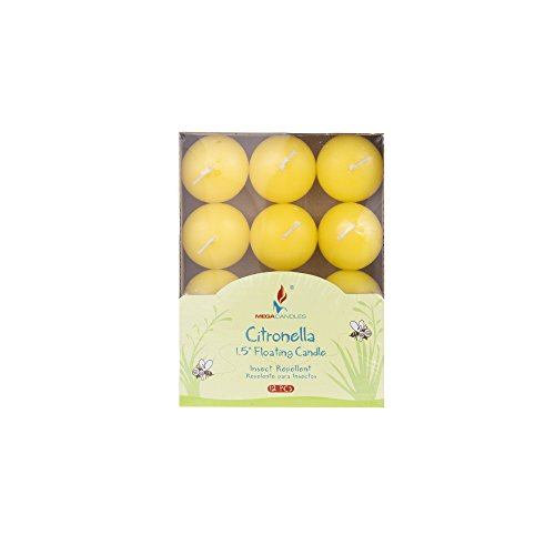 """Mega Candles 24 pcs Citronella Floating Disc Candle 