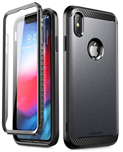 iPhoneXsMaxCase, SUPCASE [UB Neo Series] Full-Body Protective Dual Layer Armor Cover with Built-in Screen Protector for iPhoneXsMaxCase 6.5 Inch 2018 (Black)