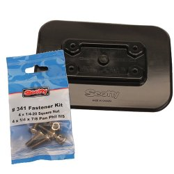 Scotty #341-BK Glue-On Pad For Inflatable Boats (Black)