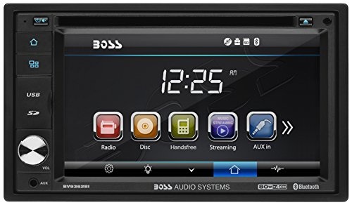 Car Stereo | BOSS Audio Double Din, 6.2 Inch Digital LCD Monitor, Touchscreen, DVD/CD/MP3/USB/SD AM/FM, Bluetooth, Wireless Remote