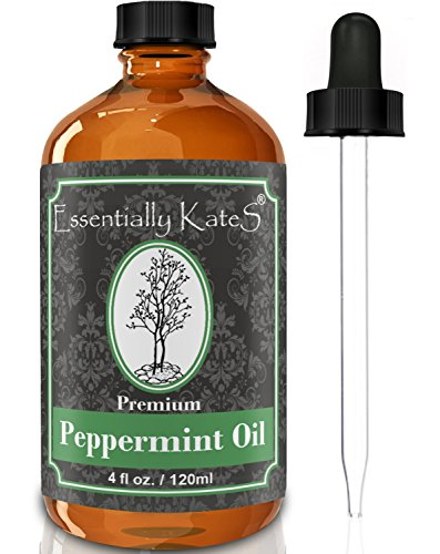 Peppermint Essential Oil 4 oz. with Detailed User's Guide E-book and Glass Dropper