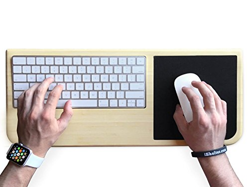 Station for Magic Keyboard and Magic Mouse - Premium Home and Office Accessory - iSkelter Apple Solutions - Control Your iMac or Laptop Remotely (in Premium Light Bamboo)