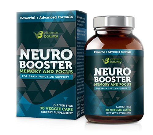 Vitamin Bounty - Neuro Booster - Memory, Focus & Clarity - Caffeine Free & All Natural (30)