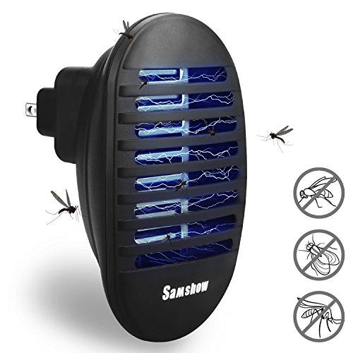 Samshow Bug Zapper, Mosquito Killer, Indoor Insect Killer Electronic Repeller - Eliminates Most Flying Pests (Black)