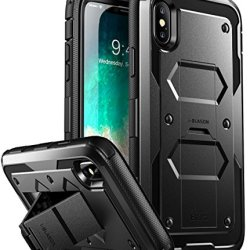 iPhone X Case, iPhone Xs Case [Armorbox V2.0] i-Blason[Built in Tempered Glass Screen Protector][Full body] [Heavy Duty Protection][Kickstand] Shock Reduction Case for Apple iPhone X/iPhone Xs (Black)