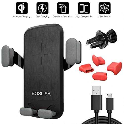 Wireless Car Charger, BOSLISA Qi Gravity Charger Car Mount