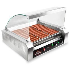 Olde Midway Electric 30 Hot Dog 11 Roller Grill Cooker Machine