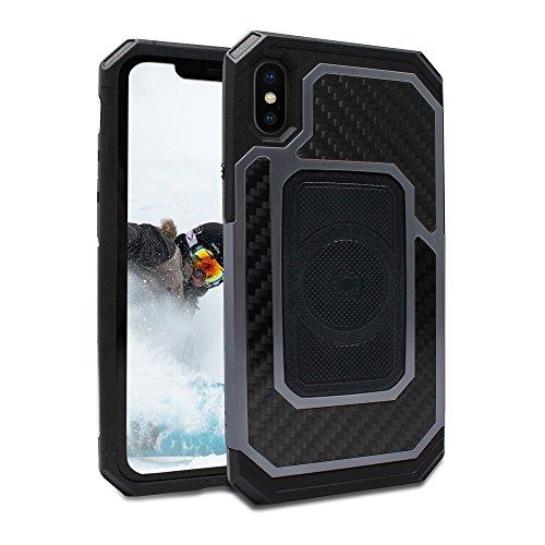 Fuzion Pro Series [iPhone X Case] Protective Aluminum & Carbon
