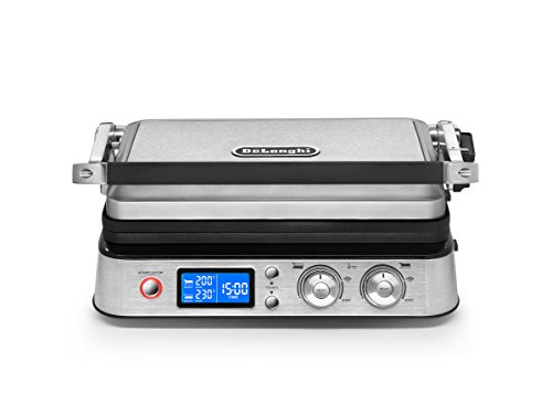 All Day Combination Contact Grill and Open Barbecue, Stainless Steel