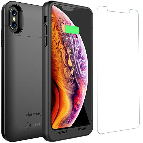 iPhone Xs Max Battery Case with Qi Wireless Charging Compatible