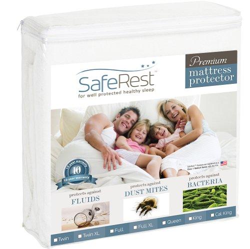 SafeRest Full Size Premium Hypoallergenic Waterproof Mattress Protector
