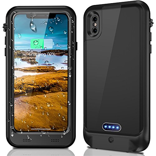 iPhone X Waterproof Battery Case with Qi Wireless Charging