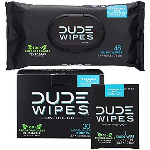 Wipes Flushable Wet Wipes