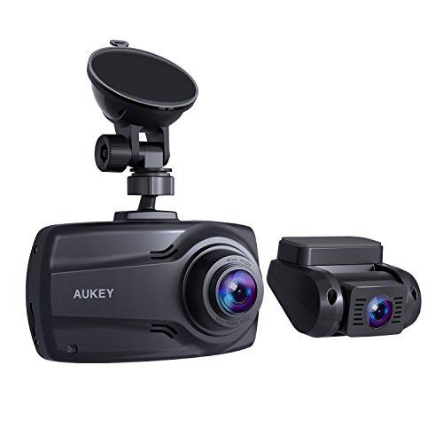 "AUKEY 1080p Dual Dash Cams 2.7"" Screen"