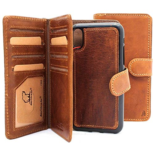 Genuine Leather Case for iPhone Xs max Book Wallet Handmade