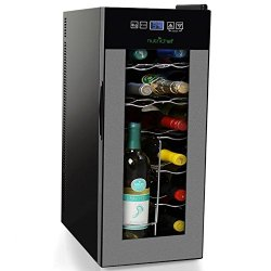Nutrichef 12 Bottle Thermoelectric Wine Cooler Refrigerator