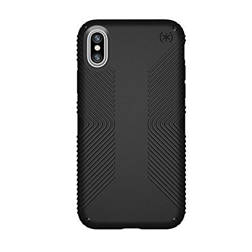 Speck Products iPhone X Case, Presidio Grip, Black/Black