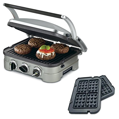 Cuisinart 5-in-1 Grill Griddler Panini Maker Bundle