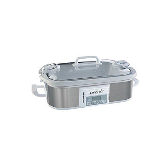 Programmable Digital Casserole Crock Slow Cooker, 3.5 quart, Stainless Steel