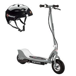 Razor Electric 24-Volt Motorized Kids Silver Scooter + Youth Black Helmet