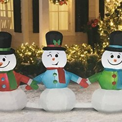 8 Ft Wide Pathway Snowmen Lightshow Musical Airblown Inflatable