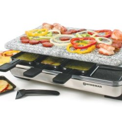 Swissmar Stelvio 8-Person Raclette with Granite Stone Grill Top