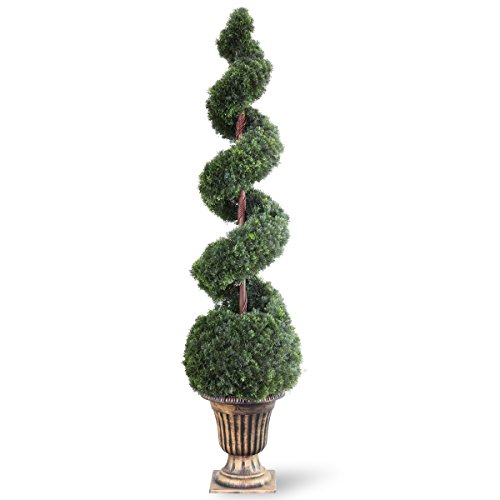 National Tree 66 Inch Cedar Spiral Tree with Ball