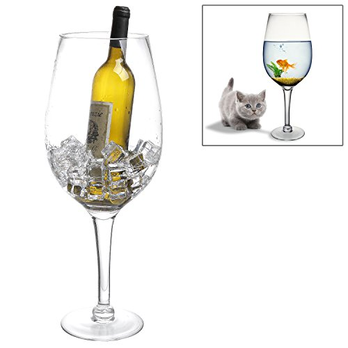 20 Inch Giant Clear Decorative Hand Blown Wine Glas