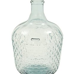 "Deco Glass Wide Bottle Vase, 10"" x 17"""