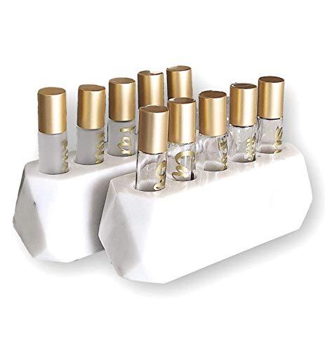 Diamond Roller Bottle Stone Essential Oil Holder