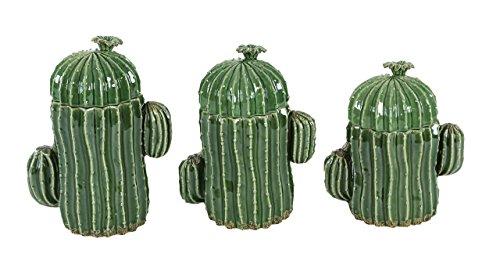 Deco Large Ceramic Green Cactus Pottery Decorative Jars