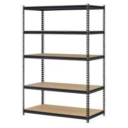 Edsal Black Steel Storage Rack, 5 Adjustable Shelves