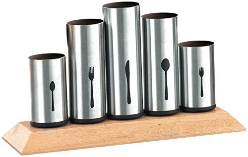 Bruntmor,18/8 Stainless Steel Flatware Organizer Holder Caddy