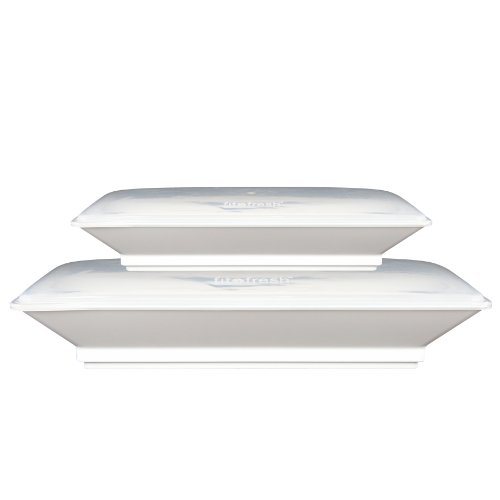 Fit & Fresh Set of Two Freezable Serving Platter with Lids