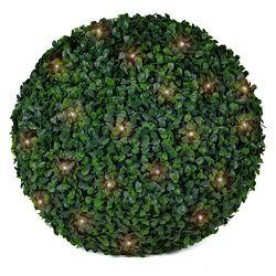 3rd Street Inn Boxwood Lighted Topiary Ball