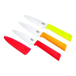 Kuhn Rikon Color Plus Classic Paring Knife Set, Red/Orange/Yellow
