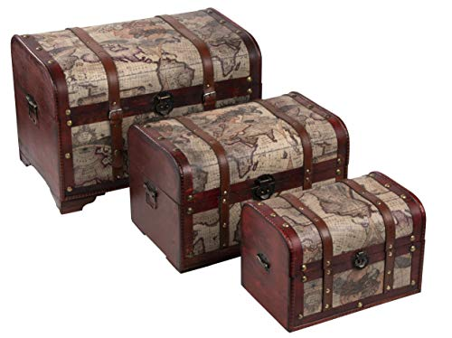 juvale-wooden-chest-trunk-3-piece-storage-trunk-and-chests-map-pattern-antique-victorian-style-pirate-treasure-chest-in-3-different-sizes
