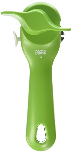 "Kuhn Rikon Can Opener, 7.25"", Green"