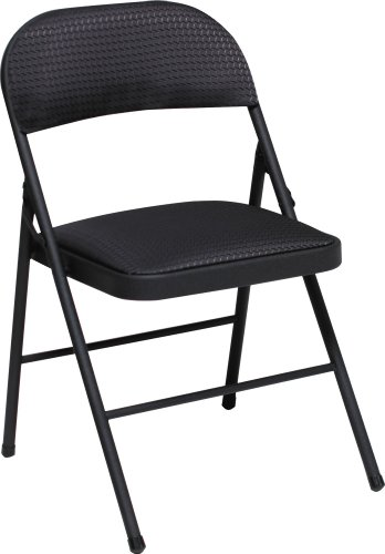 Cosco Fabric Folding Chair Black (4-pack)