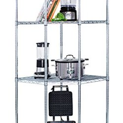 Trinity EcoStorage 4-Tier NSF Corner Wire Shelving Rack