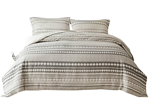PHF Yarn Dyed Duvet Cover Set Jacquard