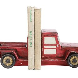 Creative Co-op Set of Red Resin Truck Bookends