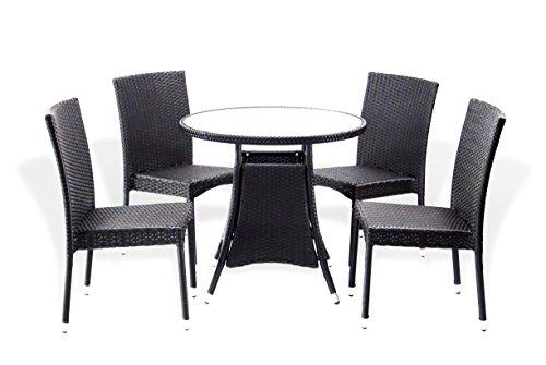 5 Pc Patio Resin Outdoor Wicker 5 Pc Patio Resin Outdoor Wicker Dining Set. Round Table Dining Set. Round Table