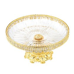 Crystal Compote Centerpiece, FANGZHIDI 10 Inches