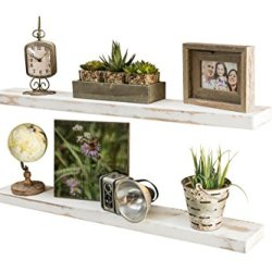 del Hutson Designs-Rustic Pine Floating Shelves