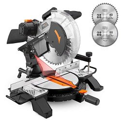 Miter Saw, Tacklife 15Amp 12inch Single Bevel Saw