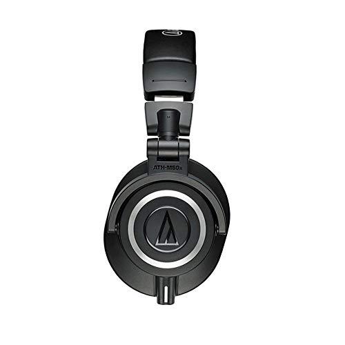 Audio-Technica Professional Monitor Headphones Audio-Technica ATH-M50x Professional Monitor Headphones + Slappa Full Sized HardBody PRO Headphone Case (SL-HP-07).